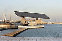 Photovoltaic Plant (10,500 square meters capturing solar energy for the electric public utility system), Forum Esplanade, Barcelona, Catalonia, Spain; 2004; José Antonio Martinez Lapeña (Tarragona, Spain, 1941) and Elías Torres Tur (Ibiza, Spain, 1944); Finalist of the European Union prize for Contemporary Architecture - 2005 Mies Van der Rohe Prize. Picture by Manuel Cohen