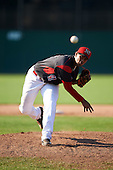 Batavia Muckdogs relief pitcher Jose Diaz (41) during the second game of a doubleheader against the Auburn Doubledays on September 4, 2016 at Dwyer Stadium in Batavia, New York.  Batavia defeated Auburn 6-5. (Mike Janes/Four Seam Images)