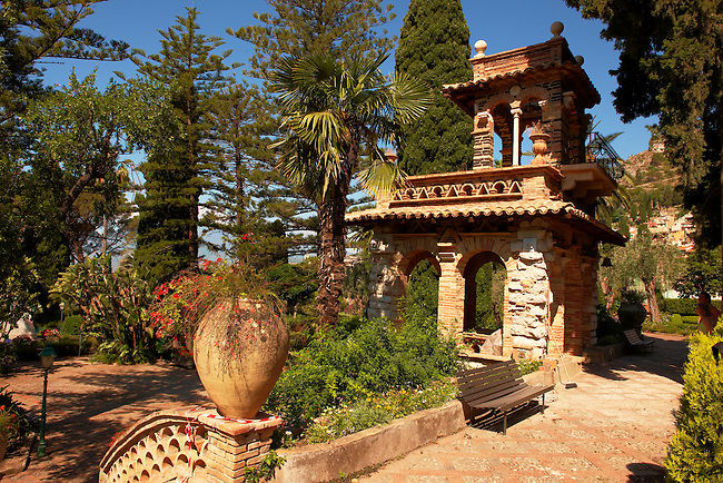 Trevelyan Gardens in Taormina also known as the Villa Comunale, the Giardino Trevelyan and the Parco Duchi di Cesarò