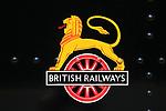 British Railways logo, North Norfolk heritage steam railway line,  England, UK British Railways logo