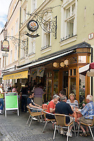 Austria, Lower Austria, UNESCO World Heritage Wachau, Krems: Old Town, pedestrian area Untere Landstrasse with cafe and pastry shop Hagmann