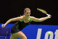 December 20, 2014, Rotterdam, Topsport Centrum, Lotto NK Tennis, Woman's semifinal, Quirine Lemoine(NED)  <br /> Photo: Tennisimages/Henk Koster