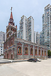 Roman Catholic Cathedral & Compound (1876, rebuilt 1888 after Sino-French War of 1884), Wenzhou (Wenchow).  This Is After Restoration In 2018.