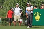 Dubai World Championship Golf. Earth Course,.Jumeirah Golf Estate, Dubai, U.A.E...Gareth Maybin tees off on the second during the third round of the Dubai World Golf championship..Photo: Fran Caffrey/www.golffile.ie...
