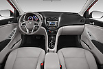 Stock photo of straight dashboard view of a 2015 Hyundai Accent GLS 4-Door 6-Speed Automatic 2 Door Sedan Dashboard