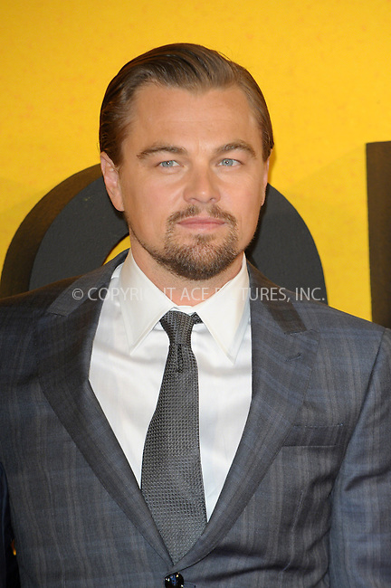 WWW.ACEPIXS.COM<br /> <br /> US Sales Only<br /> <br /> January 9 2014, London<br /> <br /> Leonardo DiCaprio arriving at the UK Premiere of The Wolf of Wall Street at the Odeon Leicester Square on January 9, 2014 in London, England<br /> <br /> By Line: Famous/ACE Pictures<br /> <br /> <br /> ACE Pictures, Inc.<br /> tel: 646 769 0430<br /> Email: info@acepixs.com<br /> www.acepixs.com