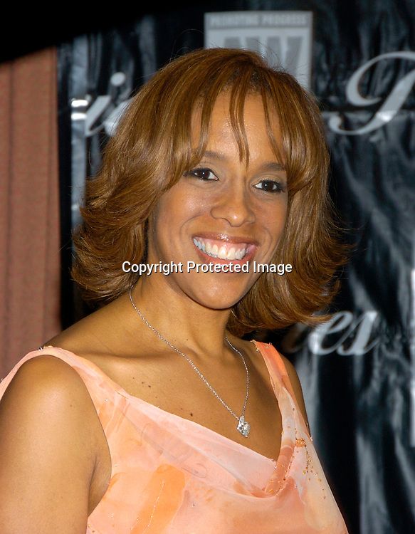 Gayle King in Carmen Marc Valvo dress..at the 2004 Gracie Allen Awards on June 22, 2004 at The New York Hilton.  American Women in Radio & Television ..Gracie Allen Awards Gala celebrates exemplary programming created for women, by women and about ..women...Photo by Robin Platzer, Twin Images
