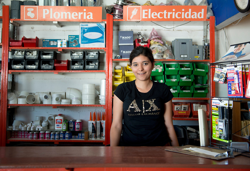 Laura Saribé Rodriguez Barrón. Hardware store owners, El Dorado,  Sinaloa,  Mexico