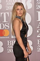 Ellie Goulding<br /> The Brit Awards at the o2 Arena, Greenwich, London, England on February 22, 2017.<br /> CAP/PL<br /> &copy;Phil Loftus/Capital Pictures /MediaPunch ***NORTH AND SOUTH AMERICAS ONLY***