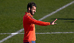 Alvaro Negredo of Valencia during training - UEFA Champions League -  Official pre match Training Session and press conference - Valencia CF vs Lyon  - Paterna Training Ground - Valencia - Spain - 8th December 2015 - Pic David Aliaga/Sportimage
