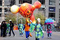 NEW YORK, NY, 24.11.2016 - PARADA-MACYS - Publico acompanha Macy's Thanksgiving Parade no dia Dia de Ação de Graças na cidade de New York nos Estados Unidos nesta quinta-feira, 24. (Foto: William Volcov/Brazil Photo Press)