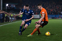 27th December 2019; Dens Park, Dundee, Scotland; Scottish Championship Football, Dundee Football Club versus Dundee United; Cammy Kerr of Dundee goes past Jamie Robson of Dundee United  - Editorial Use