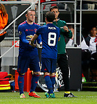 Juan Mata of Manchester United is replaced for Wayne Rooney during the UEFA Europa League Final match at the Friends Arena, Stockholm. Picture date: May 24th, 2017.Picture credit should read: Matt McNulty/Sportimage