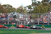 25th March 2018, Melbourne Grand Prix Circuit, Melbourne, Australia; Melbourne Formula One Grand Prix, race day; Mercedes AMG Petronas Motorsport AMG F1 Team; Lewis Hamilton leads race start