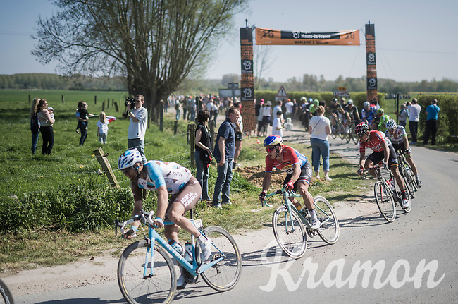 Dylan Groenewegen (NED/LottoNL-Jumbo) exiting sector 16: Warlaing to Brillon<br /> <br /> 115th Paris-Roubaix 2017 (1.UWT)<br /> One Day Race: Compi&egrave;gne &rsaquo; Roubaix (257km)