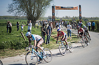 Dylan Groenewegen (NED/LottoNL-Jumbo) exiting sector 16: Warlaing to Brillon<br /> <br /> 115th Paris-Roubaix 2017 (1.UWT)<br /> One Day Race: Compiègne › Roubaix (257km)
