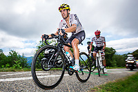 Picture by Alex Whitehead/SWpix.com - 14/07/2017 - Cycling - Le Tour de France - Stage 13, Saint-Girons to Foix - Team Sky's Mikel Landa summits the Mur de Peguere.