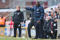 Northampton Town manager Jimmy Floyd Hasselbaink during the Sky Bet League 1 match between Bradford City and Northampton Town at the Northern Commercial Stadium, Bradford, England on 13 January 2018. Photo by Thomas Gadd.