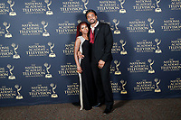 PASADENA - May 5: Trudyann Binger, Delroy Binger in the press room at the 46th Daytime Emmy Awards Gala at the Pasadena Civic Center on May 5, 2019 in Pasadena, California
