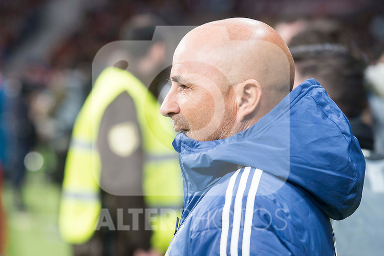 Argentina coach Jorge Sampaoli during friendly match between Spain and Argentina at Wanda Metropolitano in Madrid , Spain. March 27, 2018. (ALTERPHOTOS/Borja B.Hojas)