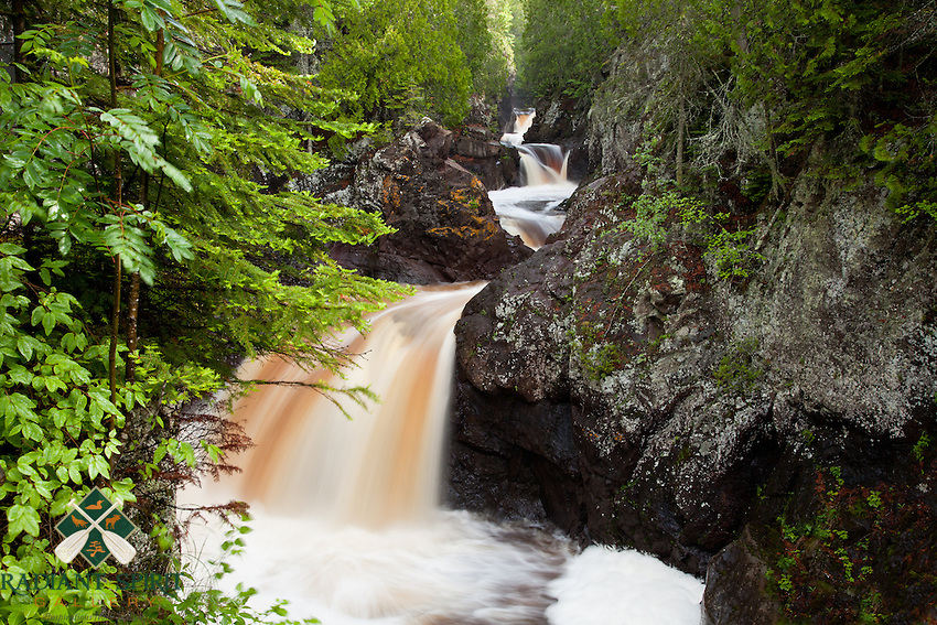 &quot;Cascade River Waterfalls&quot;<br /> <br /> The Cascade River gracefully rushes through the gorge and over a series of waterfalls on its journey to Lake Superior.