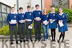 Pobalscoil Corcha Dhuibhne (Dingle) students Neesan Ó Briain Sé, Steven Ó Cunchúir, Tomas Ó hUallachain, Mairtin Ó Cathasaigh, Ciara Ní Chonchúir, Aine Ní Dhubhain and Ciara Ní Mhuircheartaigh delighted with their Junior Certificate results.