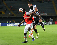 BOGOTA -COLOMBIA, 19-04-2017.   Action game between   Independiente Santa Fe of Colombia  and Santos dof  Brazil during match for the date 3   for the Conmebol Libertadores Bridgestone Cup 2017 played at Nemesio Camacho El Campin stadium . Photo:VizzorImage / Felipe Caicedo  / Staff