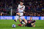 UEFA Champions League 2018/2019 - Matchday 6.<br /> FC Barcelona vs Tottenham Hotspur FC: 1-1.<br /> Son Heung-Min vs Vermaelen.