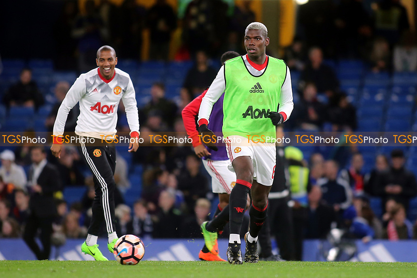 Manchester United's Paul Pogba warms up pre-match during Chelsea vs Manchester United, Emirates FA Cup Football at Stamford Bridge on 13th March 2017