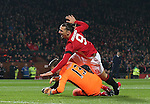 Zlatan Ibrahimovic of Manchester United yells out after scoring the first goal during the English League Cup Quarter Final match at Old Trafford  Stadium, Manchester. Picture date: November 30th, 2016. Pic Simon Bellis/Sportimage