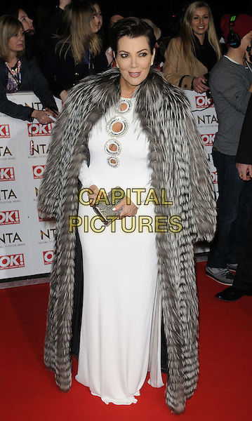 LONDON, ENGLAND - JANUARY 21: Kris Jenner attends the National TV Awards 2015, The O2 Arena, Millennium Way, Peninsula Square, Greenwich, on Wednesday January 21, 2015 in London, England, UK. <br /> CAP/CAN<br /> &copy;Can Nguyen/Capital Pictures