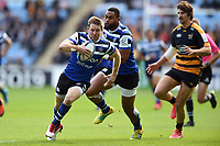 Will Chudley of Bath Rugby goes on the attack. Heineken Champions Cup match, between Wasps and Bath Rugby on October 20, 2018 at the Ricoh Arena in Coventry, England. Photo by: Patrick Khachfe / Onside Images