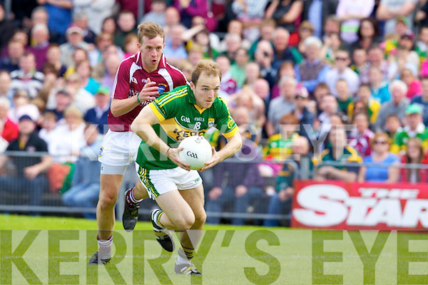 Darran O'Sullivan Kerry v Doron Harte Westmeath in Round 2 of the All Ireland qualifiers ay Cusack park in Mullingar on Sunday 15th July 2012.