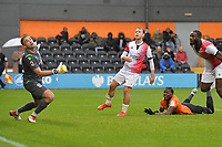 Ephron Mason-Clark of Barnet score a injury time equaliser during Barnet vs Woking, Vanarama National League Football at the Hive Stadium on 12th October 2019