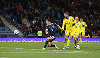 19th November 2019; Hampden Park, Glasgow, Scotland; European Championships 2020 Qualifier, Scotland versus Kazakhstan; John McGinn of Scotland makes it 3-1 to Scotland in the 90th minute - Editorial Use