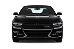 Car photography straight front view of a 2018 Dodge Charger R/T 4 Door Sedan