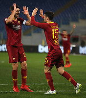 Ivan Marcano of AS Roma celebrates after scoring second goal for his side with Federico Fazio <br /> Roma 14-01-2019 Stadio Olimpico<br /> Football Calcio Coppa Italia 2018/2019 Round of 16  <br /> AS Roma - Virtus Entella<br /> Foto Gino Mancini / Insidefoto