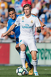 Toni Kroos of Real Madrid (R) fights for the ball with Faycal Fajr of Getafe CF (L)  during the La Liga 2017-18 match between Getafe CF and Real Madrid at Coliseum Alfonso Perez on 14 October 2017 in Getafe, Spain. Photo by Diego Gonzalez / Power Sport Images