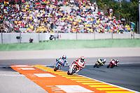 VALENCIA, SPAIN - NOVEMBER 8: Takaaki Nakagami, Alex Marquez during Valencia MotoGP 2015 at Ricardo Tormo Circuit on November 8, 2015 in Valencia, Spain
