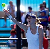 LUCIE SAFAROVA (CZE) against CHRISTINA McHALE (USA) in the first round of the Women's singles. Christina McHale beat Lucie Safarova 6-2 6-4..16/01/2012, 16th January 2012, 16.01.2012..The Australian Open, Melbourne Park, Melbourne,Victoria, Australia.@AMN IMAGES, Frey, Advantage Media Network, 30, Cleveland Street, London, W1T 4JD .Tel - +44 208 947 0100..email - mfrey@advantagemedianet.com..www.amnimages.photoshelter.com.