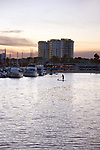 Mothers Beach in Marina Del Rey harbor in Los Angeles
