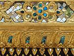 Mosaic detail of Wat Phra Kaew, Bangkok, Thailand