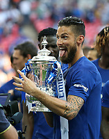 Chelsea's Olivier Giroud with the trophy<br /> <br /> Photographer Rob Newell/CameraSport<br /> <br /> Emirates FA Cup Final - Chelsea v Manchester United - Saturday 19th May 2018 - Wembley Stadium - London<br />  <br /> World Copyright &copy; 2018 CameraSport. All rights reserved. 43 Linden Ave. Countesthorpe. Leicester. England. LE8 5PG - Tel: +44 (0) 116 277 4147 - admin@camerasport.com - www.camerasport.com