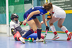 Mannheim, Germany, January 03: During the 1. Bundesliga women indoor hockey match between TSV Mannheim and Mannheimer HC on January 3, 2020 at Primus-Valor Arena in Mannheim, Germany. Final score 4-4. (Photo by Dirk Markgraf / www.265-images.com) *** Lisa Schneider #21 of Mannheimer HC