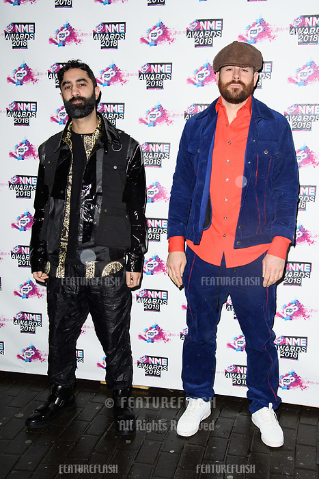 Rudimental at the VO5 NME Awards 2018 at the Brixton Academy, London, UK. <br /> 14 February  2018<br /> Picture: Steve Vas/Featureflash/SilverHub 0208 004 5359 sales@silverhubmedia.com