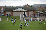 Gala Fairydean Rovers (in white) in action during their team's inaugural match in the Scottish Lowland Football League away to Whitehill Welfare at Ferguson Park. Gala were formed in 2013 by an a re-amalgamation of Gala Fairydean and Gala Rovers, the two clubs having separated in 1908 and Gala's Netherdale ground in Galashiels in the Scottish Borders had one of only two stands designated as listed football stands in Scotland. Whitehill won the match, the first-ever in the newly-formed Lowland League by 4 goals to 2.