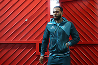 Kyle Bartley of Swansea City arrives at Old Trafford prior to the Premier League match between Manchester United and Swansea City at the Old Trafford, Manchester, England, UK. Saturday 31 March 2018
