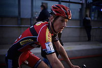 Kevin Pauwels (BEL/Sunweb-Napoleon Games) after finishing 2nd <br /> <br /> UCI Cyclocross World Cup Heusden-Zolder 2015