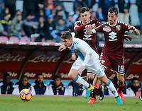 Jorginho  during the  italian serie a soccer match,between SSC Napoli and Torino       at  the San  Paolo   stadium in Naples  Italy , December 18, 2016