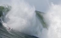 Anthony Tashnick tumbles at the 2010 Mavericks Surf Contest in Half Moon Bay, California on February 13th, 2010.